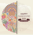 thanksgiving day greeting card in pastel color vector image vector image