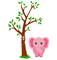 Tree and elephant vector | Price: 1 Credit (USD $1)