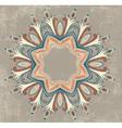 Vintage colorful round ornamental frame vector image