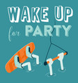 wake boarding party poster vector image vector image