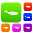 whale set collection vector image vector image