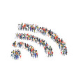 wifi crowd symbol concept group vector image vector image