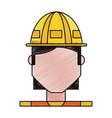 worker profile cartoon vector image vector image