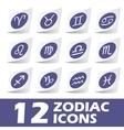 Zodiac icons sticker set vector image vector image