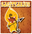 Zodiac sign Sagittarius with cute colorful monster vector image vector image