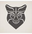 Symbol head of the old fox vector image