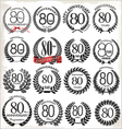 80 years anniversary laurel wreaths vector image vector image