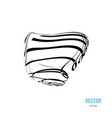 abstract 3d shape or logo with strips vector image vector image