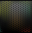 Abstract pattern with colorful hexagons