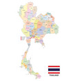 administrative map of the kingdom of thailand vector image vector image