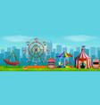 amusement park scene at daytime vector image