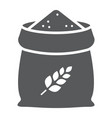 bag of wheat glyph icon farming and agriculture vector image vector image