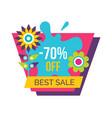 best sale 70 off advertisement spring promo label vector image