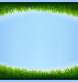 blue sky poster with grass vector image vector image