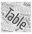 boardroom tables Word Cloud Concept vector image vector image