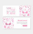 breast cancer landing page template love faith vector image