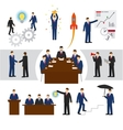 business people and teamwork vector image vector image