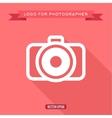 Camera icon logo flat style vector image