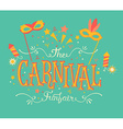 Carnival funfair and fireworks vector image