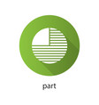 circle diagram with missing part flat design long vector image vector image