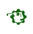cog golf logo icon design vector image vector image