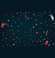 colorful confetti on dark background abstract vector image