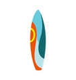 Colorful surfboard sign or icon flat