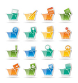 computer and phone icons - folders vector image vector image