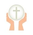 crucifix christian or catholic icon image vector image vector image