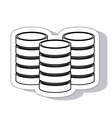 disk data storage pile isolated icon vector image