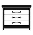 dresser icon simple style vector image
