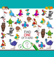find one a kind with birds characters vector image vector image