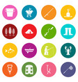 fishing tools icons many colors set vector image vector image