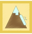 flat shading style icon snow avalanche vector image vector image