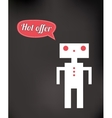 friendly robot toy vector image