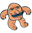 Funny cartoon monster with mustaches vector image vector image
