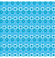 geometrical blue seamless pattern vector image