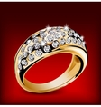 Gold ring with some diamonds vector image vector image