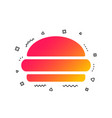 hamburger sign icon fast food symbol vector image