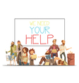 Homeless People Cartoon Style vector image vector image