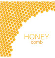 honeycomb monochrome honey pattern stock vector image vector image