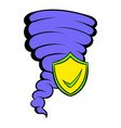 hurricane insurance icon cartoon vector image