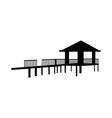icon bungalow vector image vector image