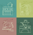 Kitchenware icons set vector image vector image