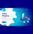 landing page template isometric vector image vector image
