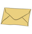 letter in envelope drawing vector image vector image
