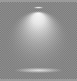 light effect on transparent background bright vector image