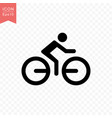 man riding a bicycle icon simple flat style vector image