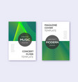 modern cover design template set green abstract l vector image
