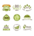 Natural Organic Labels Set in vector image vector image